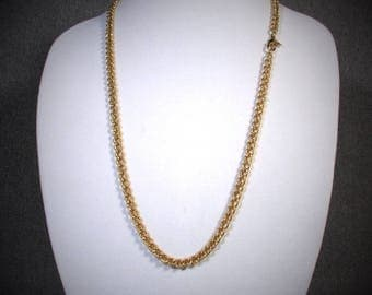 """Vintage ERWIN PEARL Gold Twist 30"""" Necklace"""