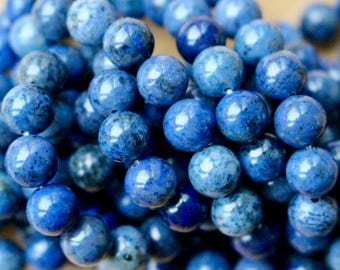 8mm Sodalite beads, AA grade, full strand, natural stone beads, round, blue beads, 80010