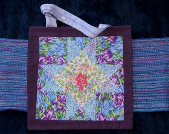 Iris  8 Pointed Star in Periwinkle and Purple
