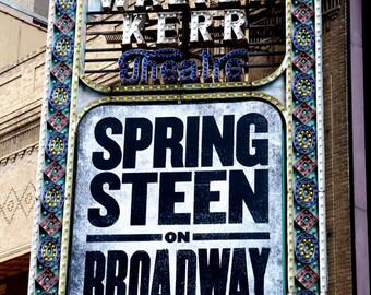 Bruce Springsteen On Broadway Walter Kerr Theater Marquee 2.5 x 3.5 Fridge Magnet