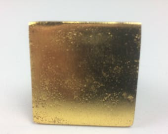 GOLD SQUARE SHAPED knob - home decor shabby chic upcycle drawer pull