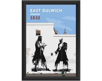 East Dulwich Street Art SE22 - Giclée Art Print - South London Poster