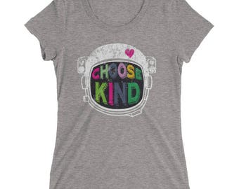 Choose Kind Anti Bullying Helmet Ladies' short sleeve t-shirt
