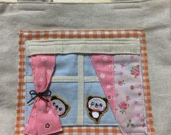 Panda's patchwork tote bag 2