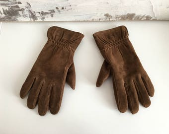 Genuine leather gloves - Winter Gloves - Gloves for Women - suede gloves -
