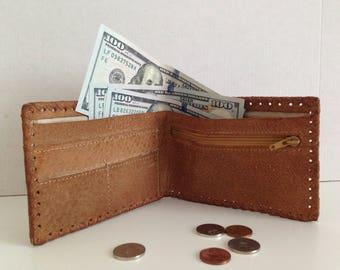 Brown men's wallet - Natural leather men's wallet - Folding wallet - Genuine leather men's wallet - Vintage Bulgaria Handmade Men's Wallet