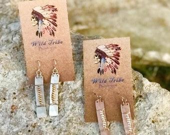 Wire Beaded Earrings