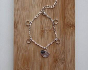fancy bird and Pearl Crystal bracelet
