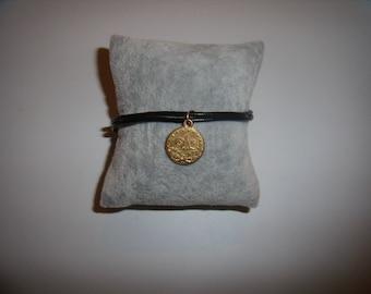 Leather bracelet Coin