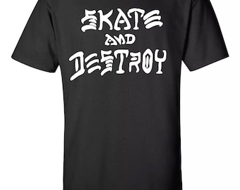 Skate And Destroy Thrasher Inspired  T-Shirt Sz:S-2XL
