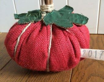 Fabric weighted pumpkin
