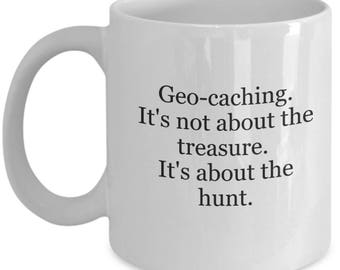 Geocaching, geocache, geocache gift, geocache mug, geocaching swag, geocache swag, geocache stuff, geocacher coffee mug, funny geocache mug