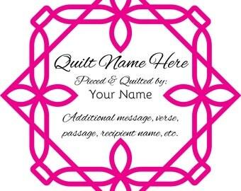 Geo Frame - Custom Quilt Label