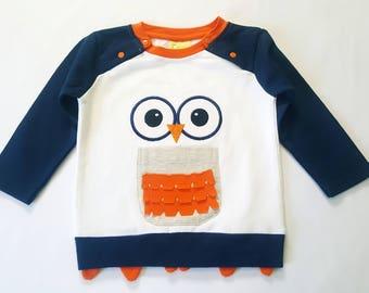 Owl long sleeve shirt