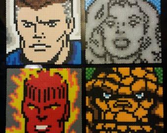 pixel art Fantastic Four - Artkal Perler mini beads