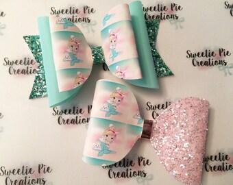 Easter mermaid - mermaid bow - easter bow - pretty pastel - mermaids - birthday - girls gifts - pretty bows