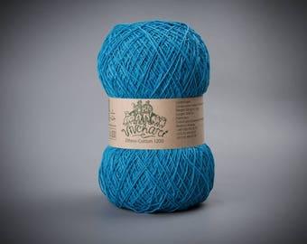 Turquoise yarn Eco yarn Cotton yarn Linen yarn Summer yarn Crochet yarn Ethno-cotton 1200 Cotton linen yarn Premium yarn Baby yarn