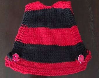School Colors Chicken Sweater - Red and Black