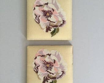 Peony Light Pink Flower Set of Two