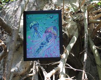 Jellyfish Acrylic Painting