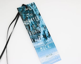 Bible Verse Bookmark | James 5:16, Christian Bookmark, motivational bookmark, Christian gift, Faith gift