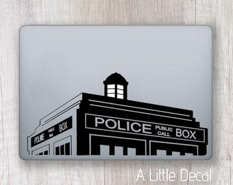 Doctor Who Sticker Macbook Decal Macbook Laptop Decal Laptop Sticker Dr Who Tardis