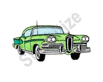 Car - Machine Embroidery Design, Classic Car