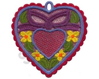 Heart Ornament - Machine Embroidery Design