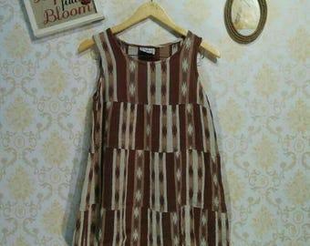 1960' s 1970's Retro Ethnic Short Dress