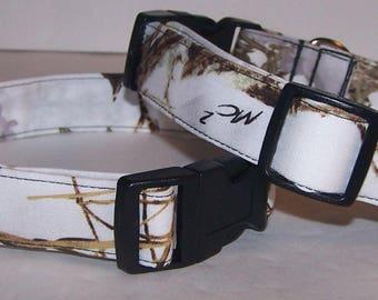 Snow White MC2 Camo Dog Collar Camouflage True Timber Winter