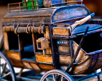 Hand carved Stagecoach
