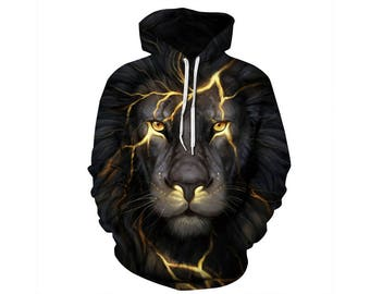 Lion Hoodie, Lion, Lion Hoodies, Animal Prints, Animal Hoodie, Animal Hoodies, Lions, Hoodie Lion, Hoodie, 3d Hoodie, 3d Hoodies - Style 33