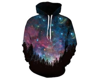 Galaxy Hoodie, Galaxy Sweatshirt, Galaxy, Galaxy Jumper, Galaxy Hoodies, Space, Space Hoodie, 3d Hoodie, 3d Hoodies, Hoodie - Style 25