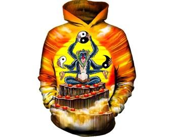 Monkey Hoodie, Monkey, Monkey Hoodies, Animal Prints, Animal Hoodie, Animal Hoodies, Monkeys, Hoodie, 3d Hoodie, 3d Hoodies - Style 5