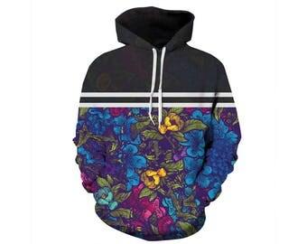 Flower Hoodie, Flowers Hoodie, Floral Hoodie, Flower Sweatshirt, Hoodie Pattern, Pattern Hoodie, Graphic Hoodie, Hoodie, 3d Hoodie, Style 2