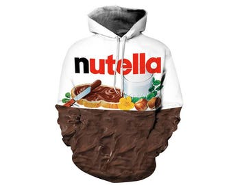 Junk Food, Fast Food, Food Clothes, Junk Food Clothing, Food Hoodie, Food Clothing, Hoodie Pattern, Nutella, Hoodie, 3d Hoodie Style 1