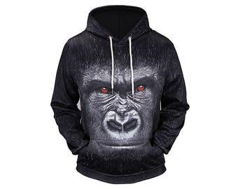 Monkey Hoodie, Monkey, Monkey Hoodies, Animal Prints, Animal Hoodie, Animal Hoodies, Monkeys, Hoodie, 3d Hoodie, 3d Hoodies - Style 6