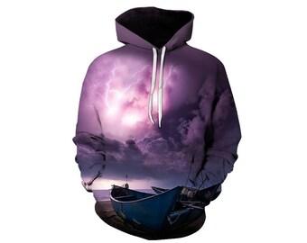 Nature Hoodie, Nature Sweatshirt, Outdoor Hoodie, Hoodie Art, Hoodie Pattern, Pattern Hoodie, Graphic Hoodie, Hoodie, 3d Hoodie - Style 4
