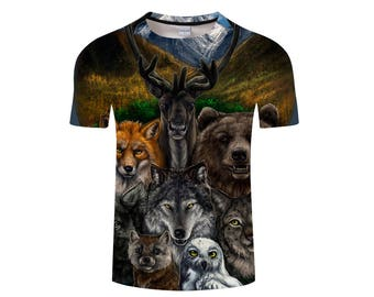 Wolf Shirt, Wolf Shirts, Wolf Tee Shirt, Wolf Tshirt, Wolves Shirt, Wolf T-shirt, Wolf, Wolves, Wolves Tshirt, Shirt, Wolf Tee - Style 3