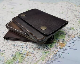 Minimalist wallet, Pocket wallet, Slim leather wallet, Mens wallet, Leather minimalist wallet, Leather wallet, Mini wallet