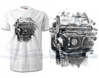 Ozzy The Defender, Land Rover Defender, Large Front Print, Cars, Novelty Gift, Defender T-Shirt, Land Rover T-Shirt Adults