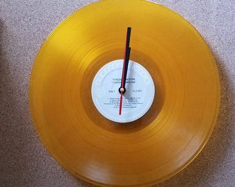 Translucent Yellow Vinyl LP Clock