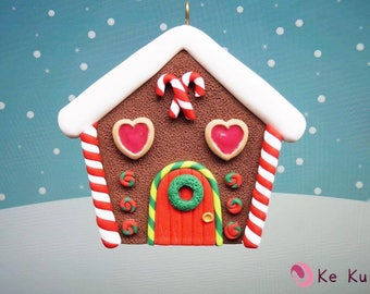 Christmas Tree Ornament Gingerbread house/gingerbread house. Christmas Tree Ornament
