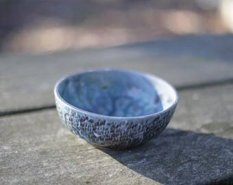 Blue and Purple Textured Bowl