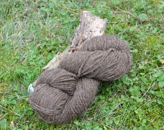 100g knitted wool natural Dunkelbraun 100% pure sheep wool natural from the black Sheep