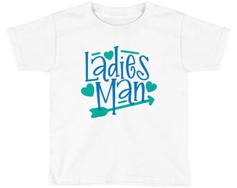 Ladies Man - Toddler Short Sleeve T-Shirt, Cute Kids Valentines T-Shirt