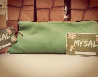 MySal Big Pillow of therapeutic salt 1 kg with essential oil balsamic/Lavender/Orange