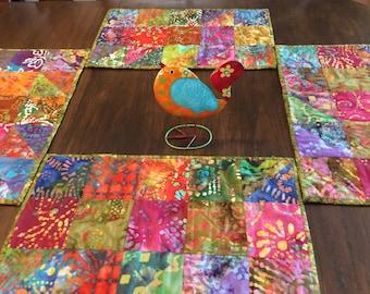 quilted batik placemats
