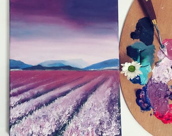Lavender fields Oil painting