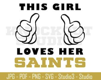 Saints Svg Etsy